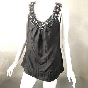 Yoana Baraschi Tops - Beaded Black Top By Yoana Baraschi size Medium